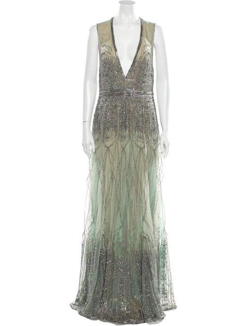 Cucculelli Shaheen 2020 Long Dress Green