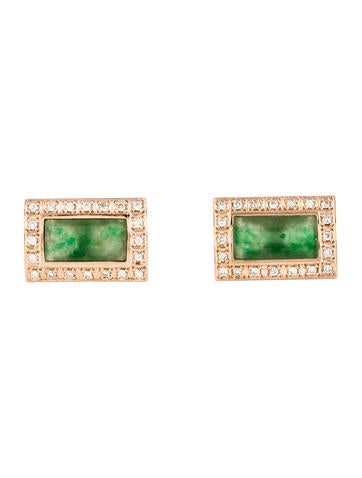 Jade & Diamond Cufflinks None