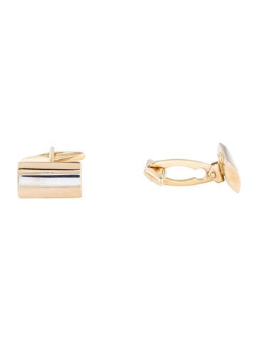 14K Bar Cufflinks None