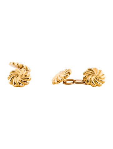 18K Swirl Cufflinks None