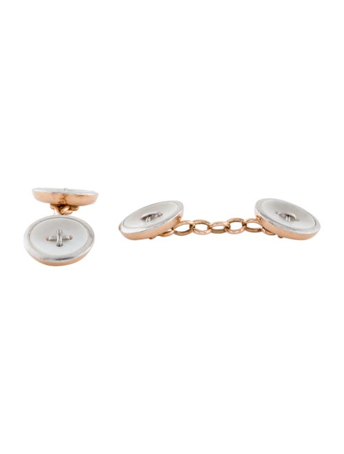 Mother Of Pearl Button Cufflinks rose