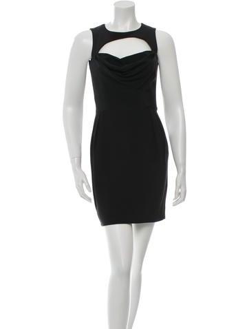 Cushnie et Ochs Silk Cutout-Accented Dress