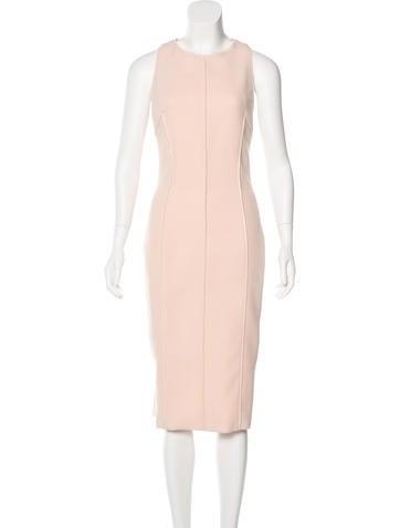 Cushnie et Ochs Zipper-Trimmed Midi Dress w/ Tags