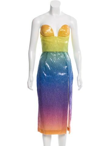 Cushnie et Ochs Sequin Ombré Dress