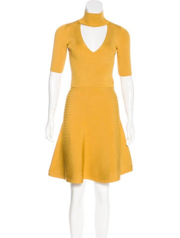 Cushnie et Ochs Cutout Knee-Length Dress None