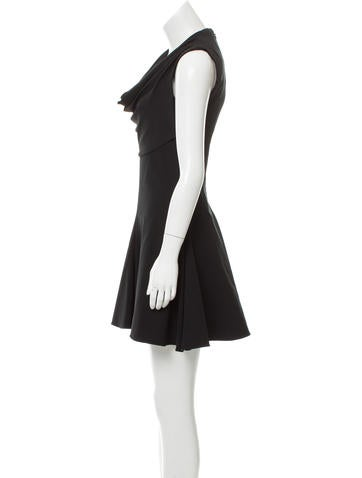 Cowl Neck A-Line Dress