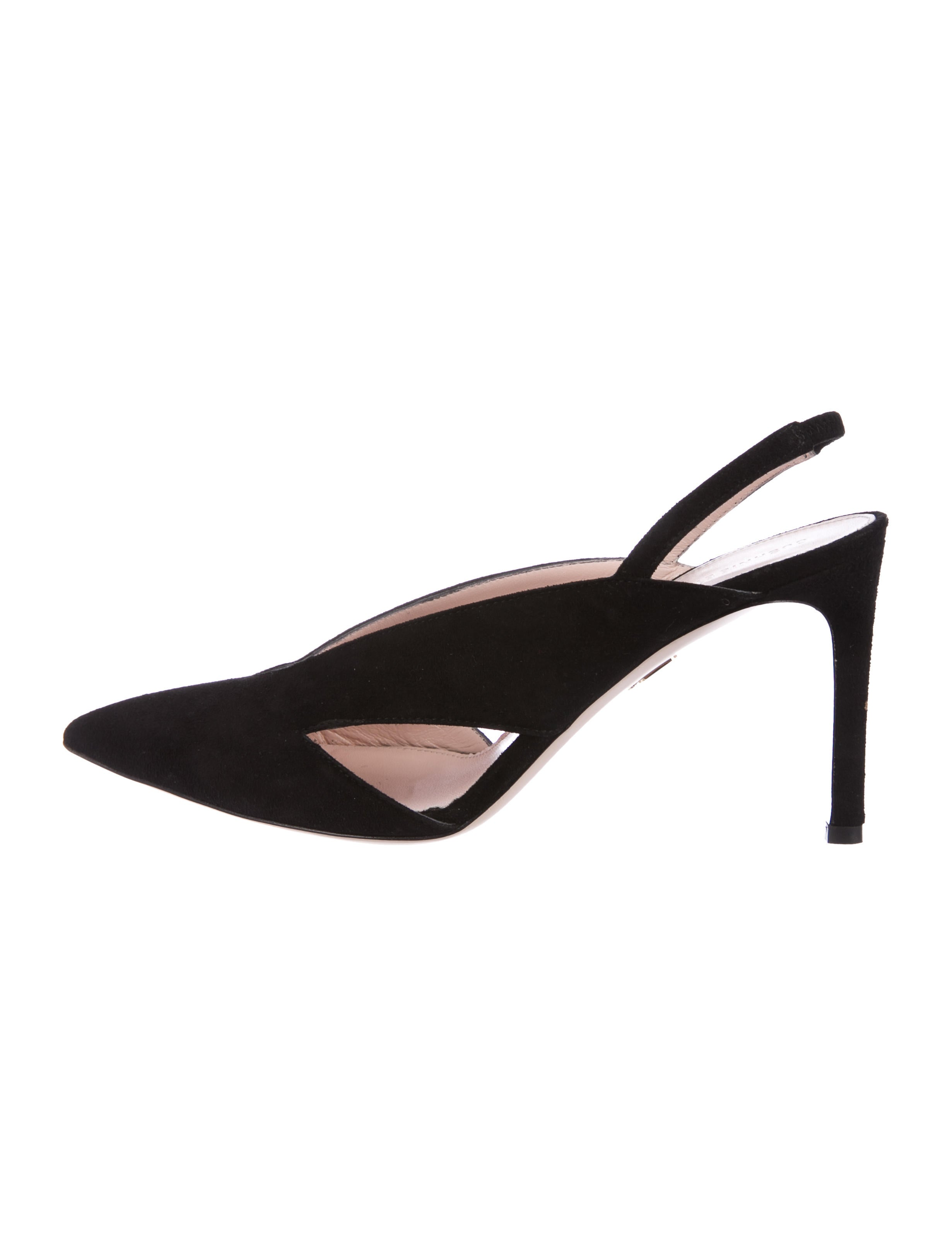 cheap supply Manchester Cushnie et Ochs Suede Slingback Pumps cheap best place discount popular free shipping outlet locations xKo54ZiU