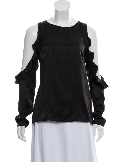 Cushnie Silk Long Sleeve Blouse Black