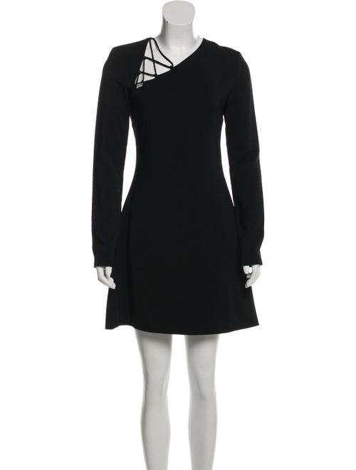 Cushnie Stretch Cady Lace-Up Dress w/ Tags Black