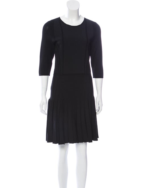 Cushnie A-line Midi Dress Black