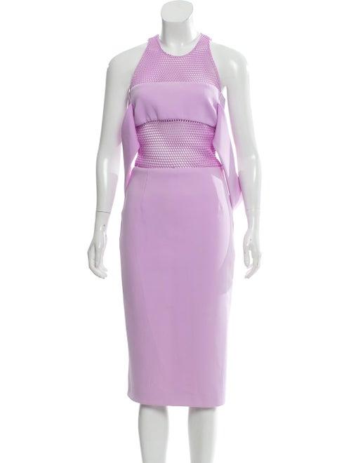 Cushnie Mesh-Accented Midi Dress