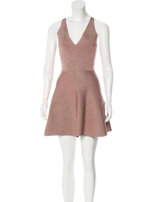 Cushnie Metallic Flared Dress mauve