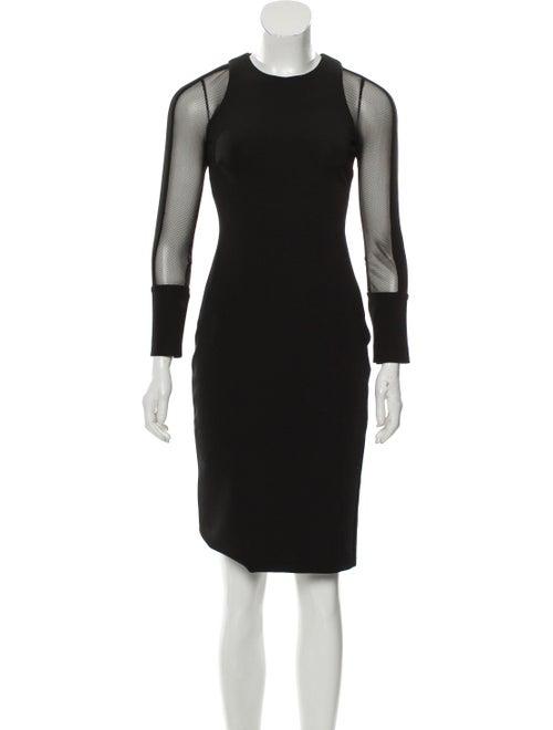 Cushnie Mesh Bodycon Dress Black