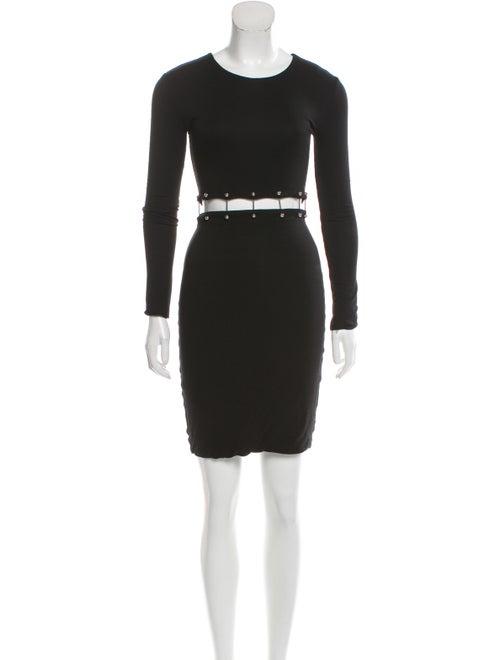 Cushnie Cut-Out Embellished Dress Black