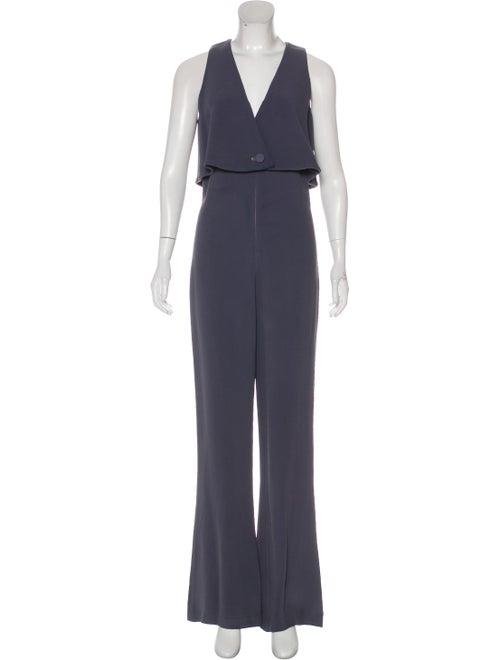 Cushnie Sleeveless Wide-Leg Jumpsuit Grey