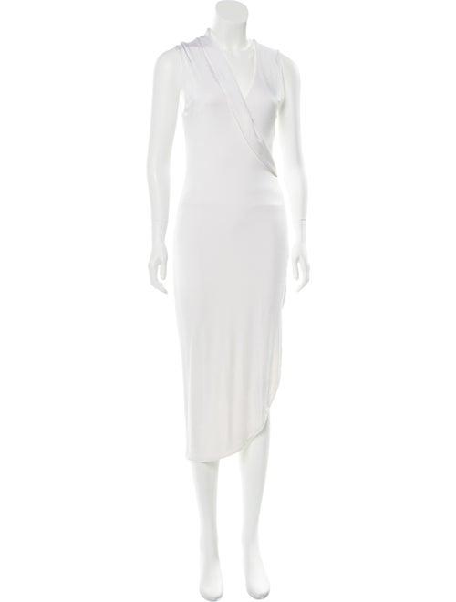 Cushnie Sleeveless Midi Dress White