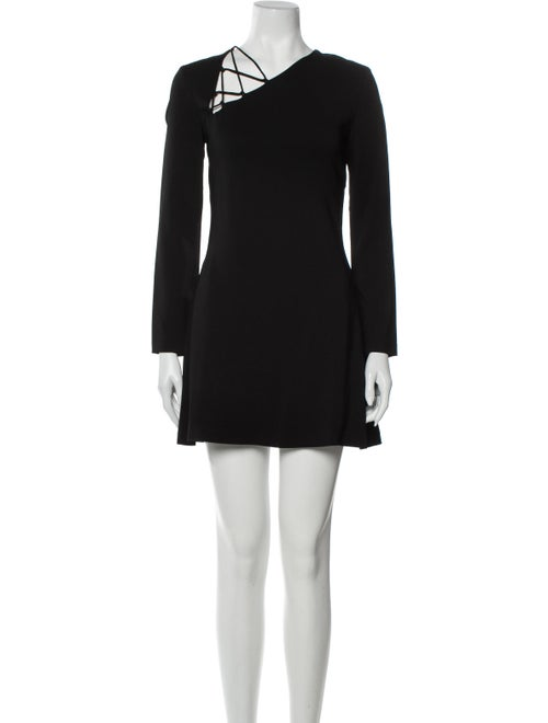 Cushnie Asymmetrical Mini Dress Black