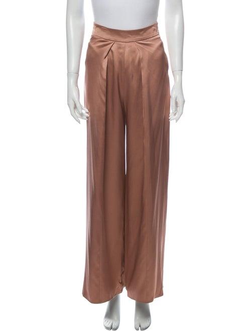 Cushnie Silk Wide Leg Pants Pink