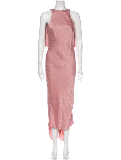 Cushnie Scoop Neck Long Dress Pink