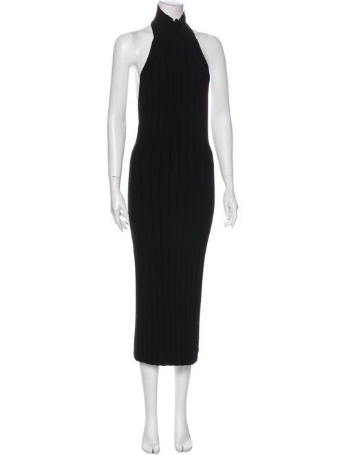 Cushnie Turtleneck Knee-Length Dress Black