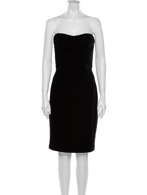 Cushnie Strapless Mini Dress Black