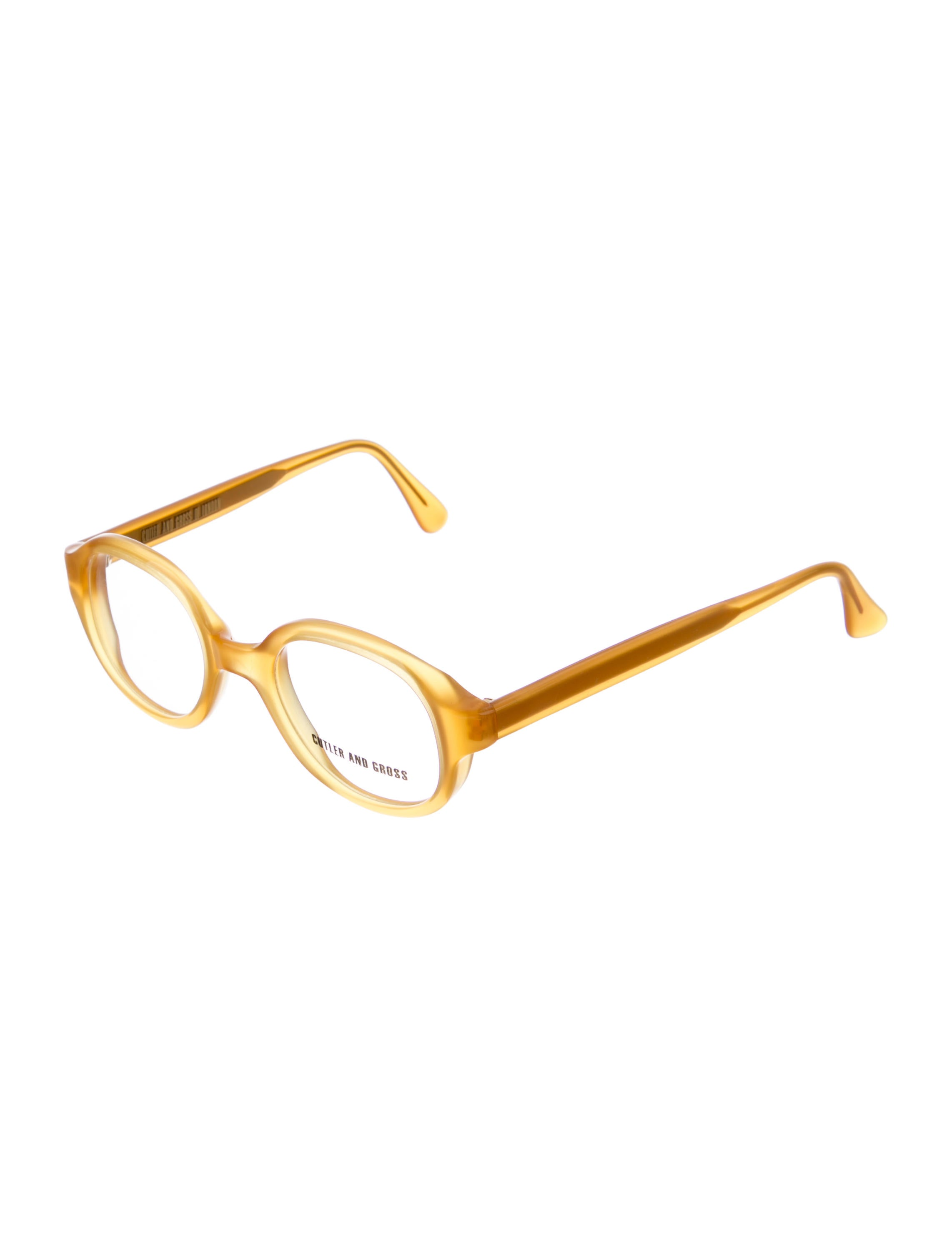 Cutler and Gross Round Frame Eyeglasses - Accessories - CUT20353 ...