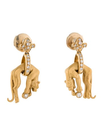 Panther Earrings with Diamonds