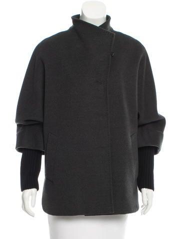 Cinzia Rocca Wool Cocoon Coat None