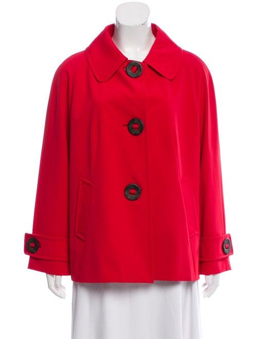 Cinzia Rocca Peter Pan Collar Short Coat red