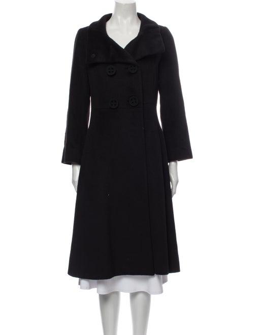 Cinzia Rocca Angora Trench Coat Black
