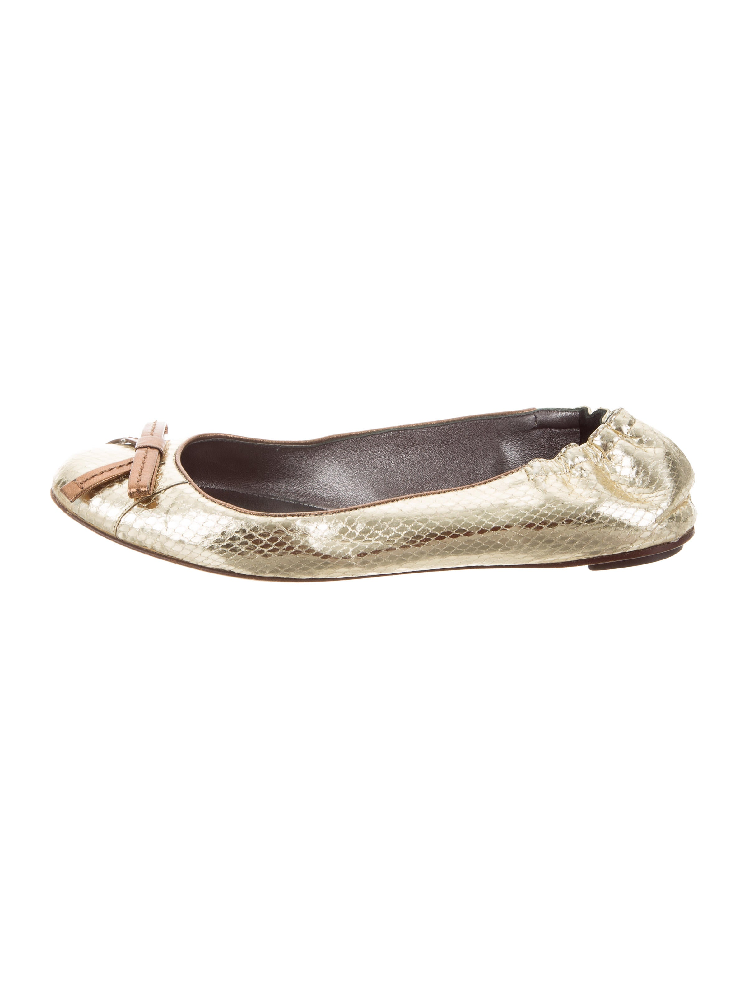 discount latest discount release dates Dolce & Gabbana Metallic Snakeskin Flats 100% original cheap price UU8eRDiku3