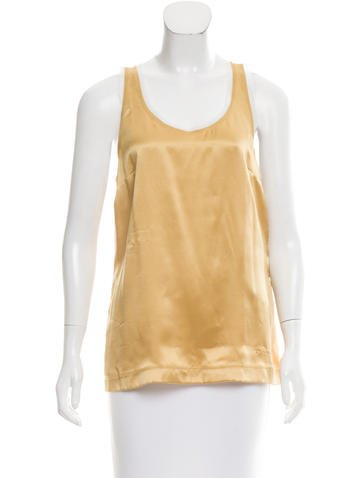 Dolce & Gabbana Sleeveless Silk Top None