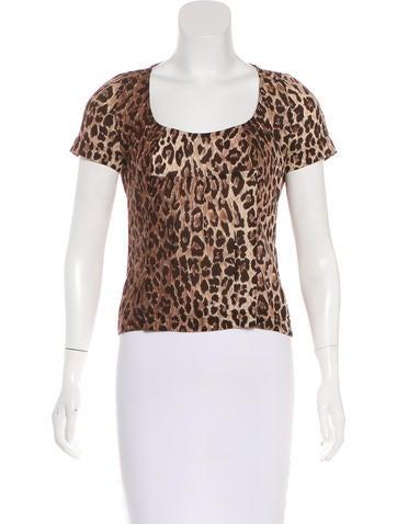 Dolce & Gabbana Leopard Print Silk Top None