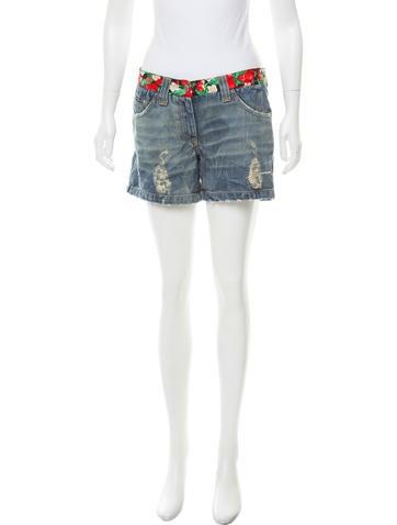 Dolce & Gabbana Distressed Denim Shorts None