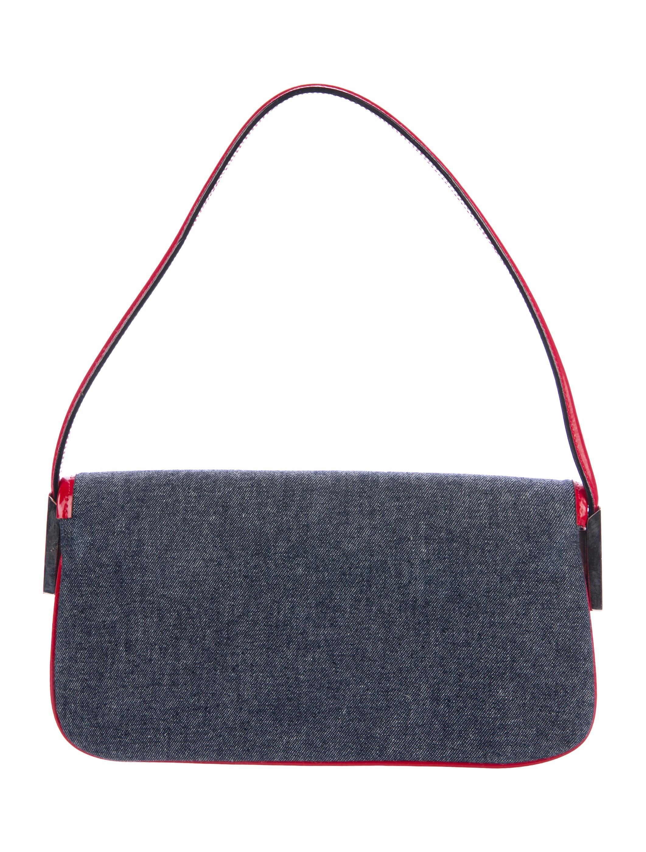 bec2396766 Dolce   Gabbana Leather-Trimmed Denim Shoulder Bag - Handbags ...