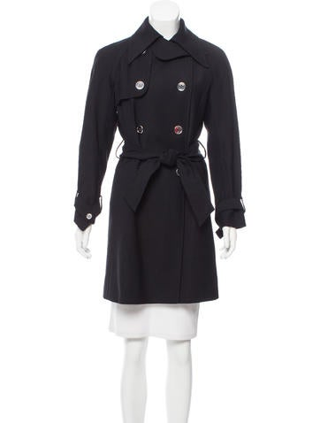 Dolce & Gabbana Double-Breasted Wool Coat None