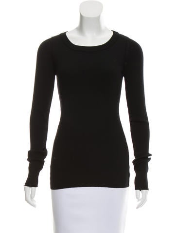 Dolce & Gabbana Wool Rib Knit Top None