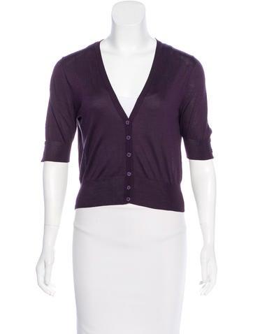 Dolce & Gabbana Silk Short Sleeve Cardigan None
