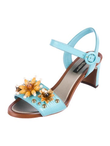 Dolce & Gabbana Embellished Embossed Sandals w/ Tags cheap sale lowest price low cost cheap online latest collections cheap price good selling cheap online pre order online CsE6Fd