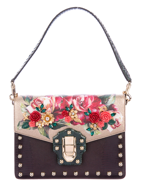 71372c47873f Dolce   Gabbana Python-Trimmed Lucia Bag - Handbags - DAG101143 ...
