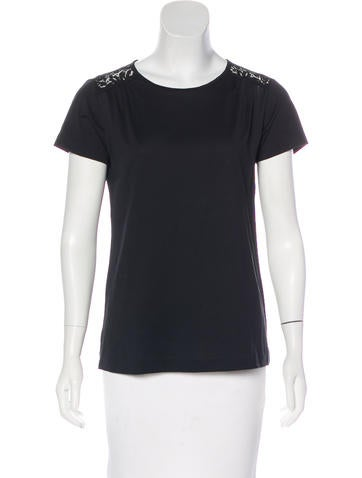 Dolce & Gabbana Lace-Accented Short Sleeve Top None
