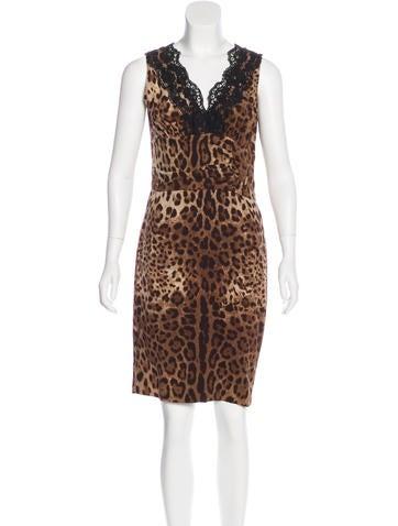 Dolce & Gabbana Sleeveless Leopard Print Dress None