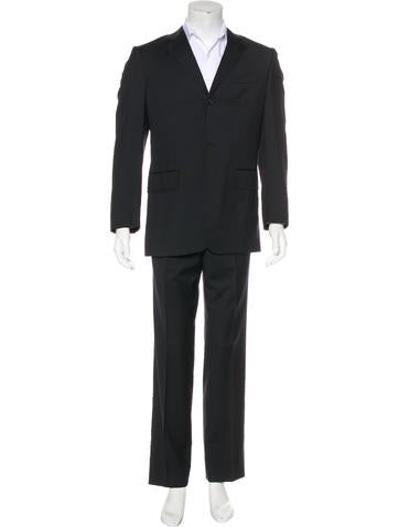 Dolce & Gabbana Tonal Check Wool Suit None