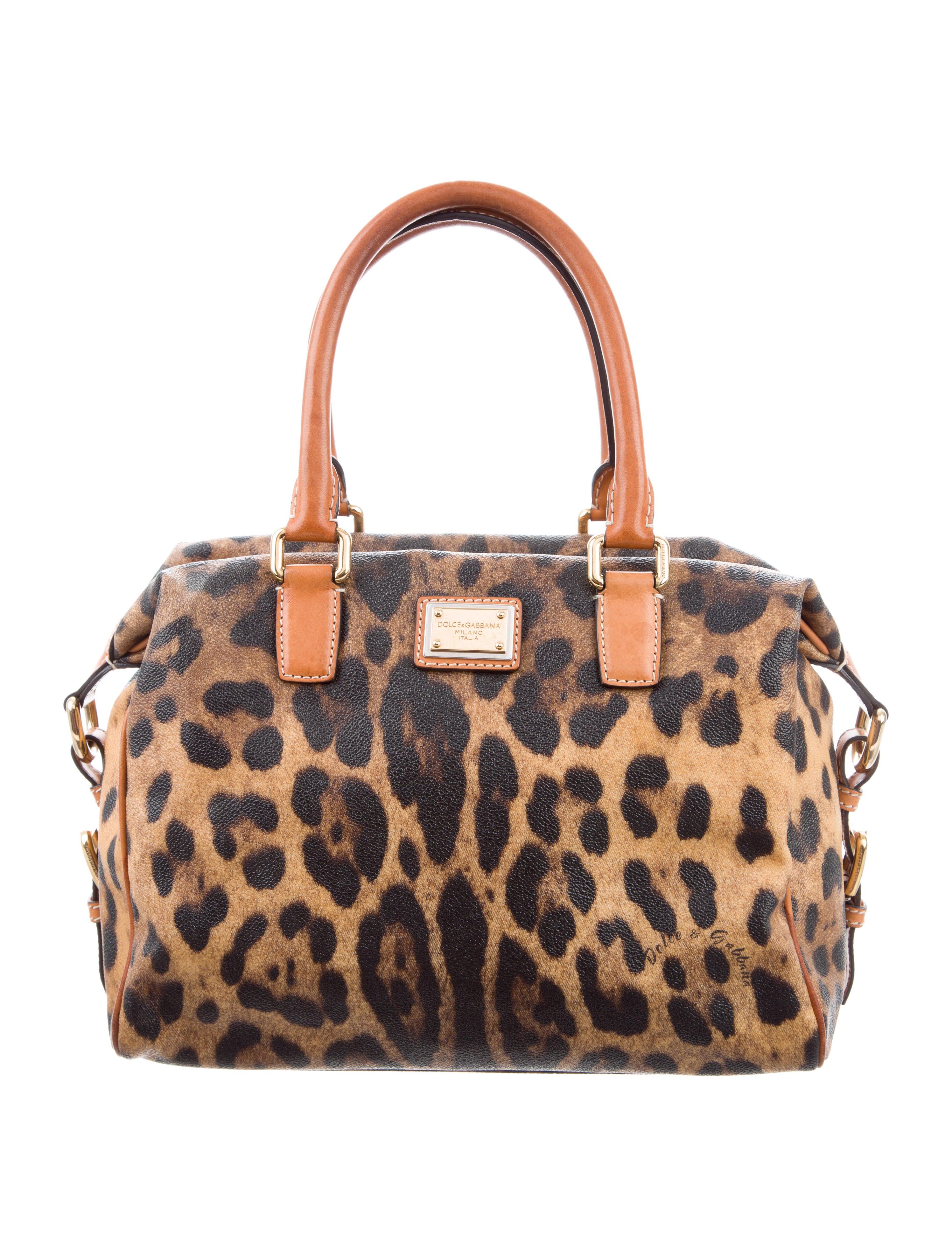 Leopard Print Boston Bag