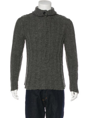 Dolce & Gabbana Rib Knit Shawl Sweater None
