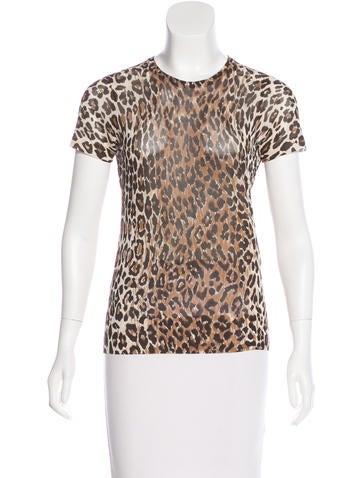 Dolce & Gabbana Leopard Print Mesh Top None