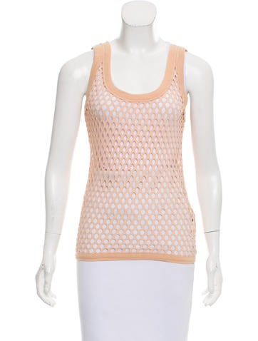 Dolce & Gabbana Sleeveless Eyelet top w/ Tags None