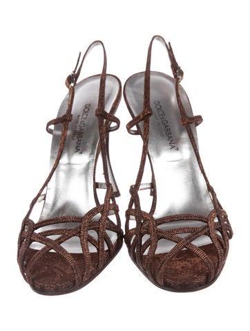 Metallic Slingback Sandals