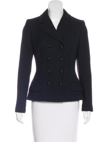Dolce & Gabbana Wool Double-Breasted Blazer None