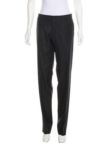 Dolce & Gabbana Mid-Rise Virgin Wool Pants None